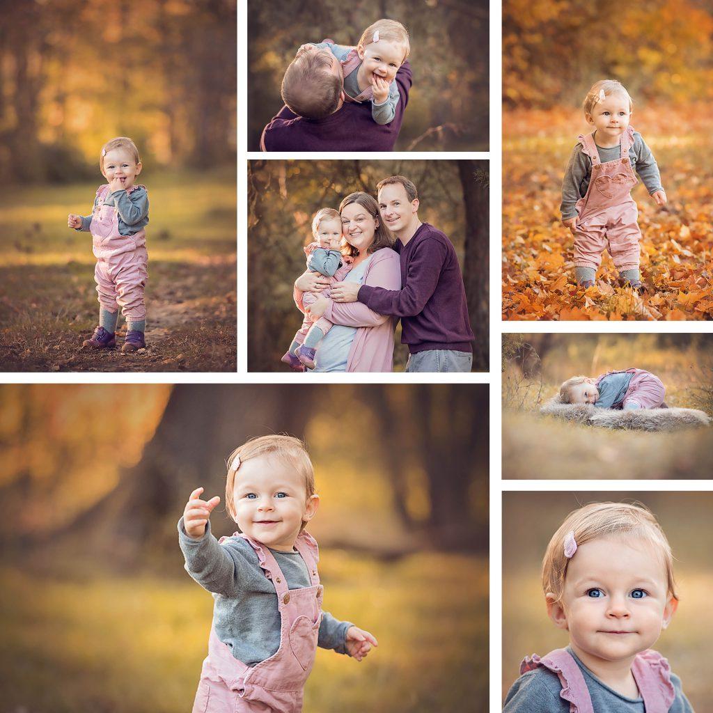 collage einer dreikoepfigen familie bei ihrem familienshooting mit professioneller fotografin aus stuttgart